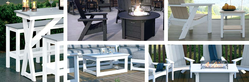 Collage of Sister Bay Furniture products